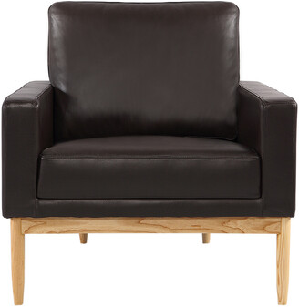 808 Home Stilt Danish Leather Mod Chair