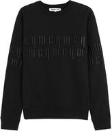 Mcq Alexander Mcqueen Black Embroidered Cotton Sweatshirt