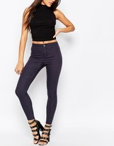 Asos Rivington High Waisted Denim Jeggings in Ink Gray Wash