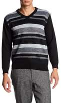 Burnside Stripe V-Neck Sweater