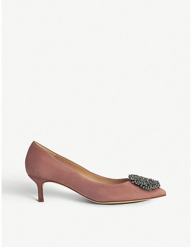 LK Bennett Gretchen leather court shoes