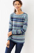 J. Jill Jacquard Mixed-Stitch Pullover