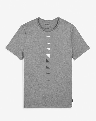 Express Gray Linear Graphic T-Shirt