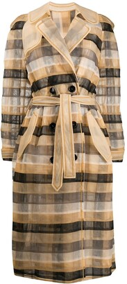Viktor & Rolf Check Me Out trench coat