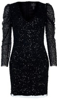 Adrianna Papell Long Sleeved Beaded Dress