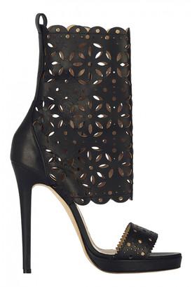 Oscar de la Renta Black Leather Boots