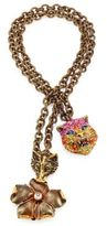 Gucci Cat, Fox & Flower Pendant Necklace