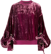 Y/Project Y / Project - crushed velvet sweatshirt - women - Silk/Viscose - XS