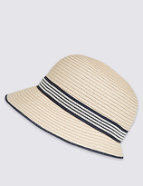M&S Collection Bow Cloche Summer Hat