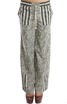 Suno Wide Leg Striped Panel Pants