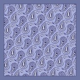 Emily Carter The Paisley Pocket Square - Grey