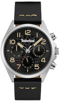 Timberland 'Bartlett II' Multifunction Leather Strap Watch, 48mm