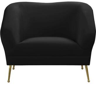 Everly Quinn Faizan Arm Chair Fabric: Black