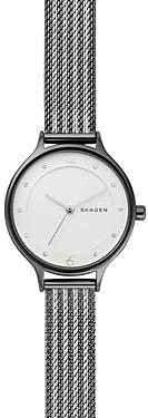 Skagen Anita Two-Tone Ripple Mesh Bracelet Watch, 30mm