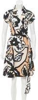 Diane von Furstenberg Short Sleeve Edan Dress