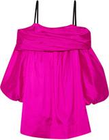 Isa Arfen Off-the-shoulder silk-taffeta dress
