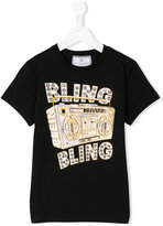 Philipp Plein Bling Bling T-shirt - kids - Cotton/Spandex/Elastane - 14 yrs