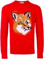 MAISON KITSUNÉ fox motif jumper - men - Lambs Wool - XS