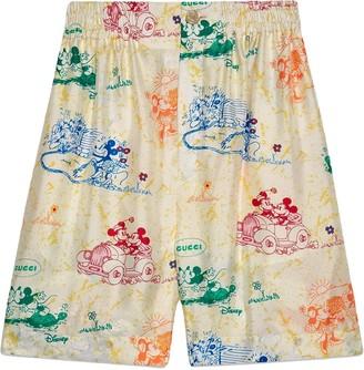 Gucci x Disney Mickey and Minnie printed shorts