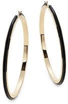 Expression Two-Tone Rubberized Hoop Earrings