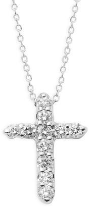 KC Designs 14K White Gold & Diamond Cross Pendant Necklace