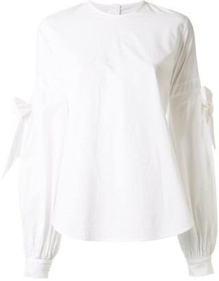 Silvia Tcherassi Galesia tie-sleeve blouse