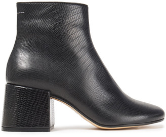 MM6 MAISON MARGIELA Lizard-effect Leather Ankle Boots