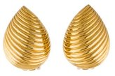 Christian Dior Ribbed Clip-On Earrings
