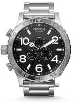 Nixon Chronograph Stainless Steel Bracelet Watch