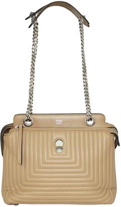 Fendi Beige Leather Dotcom Shoulder Bags
