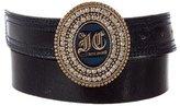 Just Cavalli Patent Leather Logo Belt