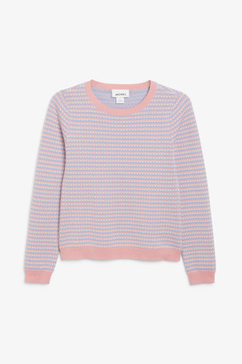 Monki Knitted long-sleeved top