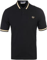 Fred Perry Re-issues Black & Champagne Tipped Pique Polo Shirt