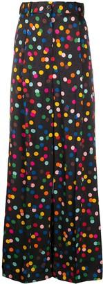 Racil Polka Dot Wide-Leg Trousers