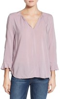 Velvet by Graham & Spencer Women's Challis Peasant Blouse