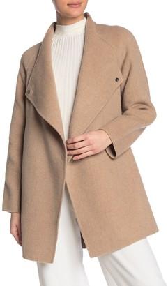 Vince Sweaterback Wool Blend Drape Coat