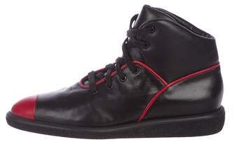 Walter Steiger Leather Pointed-Toe Sneakers