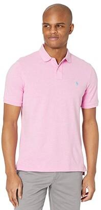 Polo Ralph Lauren Classic Fit Mesh Polo (Hampton Pink Heather) Men's Clothing
