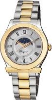 Salvatore Ferragamo 40mm 1898 Sport Men's Moon Phase Two-Tone Bracelet Watch, Multi