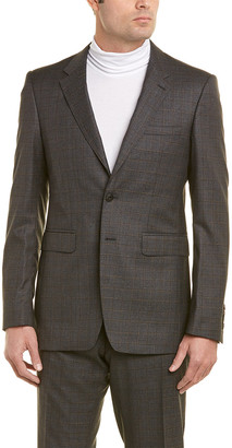 Burberry Wool Suit With Flat Front Pant
