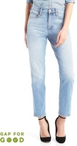 Gap Washwell high rise real straight jeans