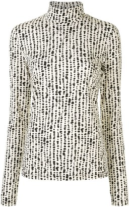 Proenza Schouler White Label Masked Turtleneck Top