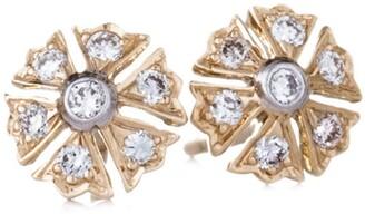 Sethi Couture Flower Diamond Stud Earrings