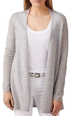 Pure Collection Gassato Cashmere Swing Cardigan, Heather Dove