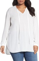 Sejour Plus Size Women's Tie Neck Tunic