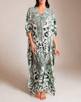 Camilla Snow Whispers Long Lace-Up Kaftan