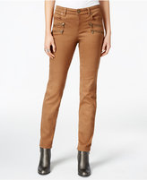 Style&Co. Style & Co. Zip-Trim Tobacco Wash Skinny Jeans, Only at Macy's