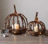 Pottery Barn Lit Twig Pumpkin