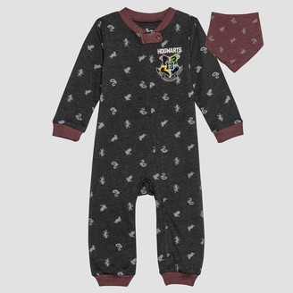 Harry Potter Baby 2pc Long Sleeve Romper and Bib Set -