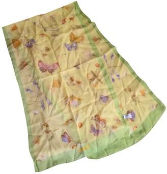 Salvatore Ferragamo Yellow Silk Scarves